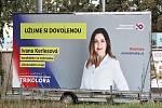 Předvolební billboard Trikolóry. Známka odborníka na marketing: 2+.