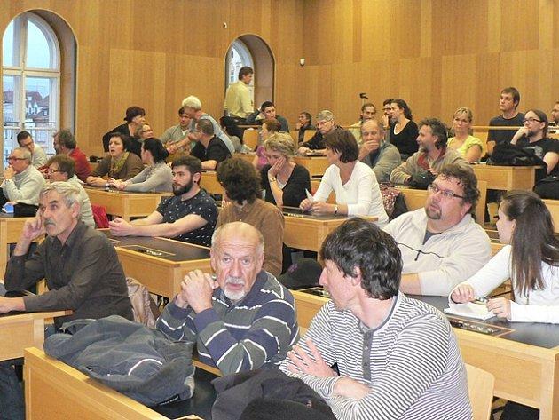 Veřejná debata o cyklogenerelu na českobudějovické radnici.