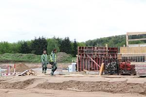 Výstavba dálnice v Českých Budějovicích u Nových Hodějovic.