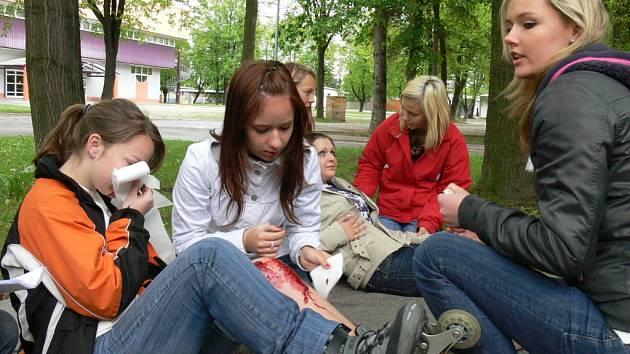V úterý na českobudějovickém výstavišti pořádal Český červený kříž oblastní kolo soutěže Hlídek mladých zdravotníků.