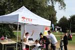 U českobudějovické Sportovní haly ve Stromovce se předvedly organizace pro děti a připraven byl i další doprovodný program.