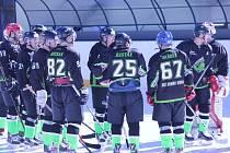 Hokejisté Dami Guns na Hluboké v kroužku oslavují postup do finále, na soupeře nováček čeká: Ševětín, nebo Hluboká B?