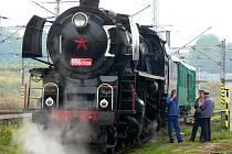 I v minulých letech se na českobudějovickém nádraží objevovaly parní lokomotivy. Letošní Zámecké jízdy jsou ovšem novinkou.