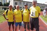 Družstva seniorů sportovala na seniorských hrách.