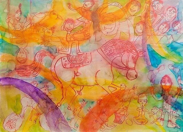 Barča Sedláčková vytváří obrazy plné barev.