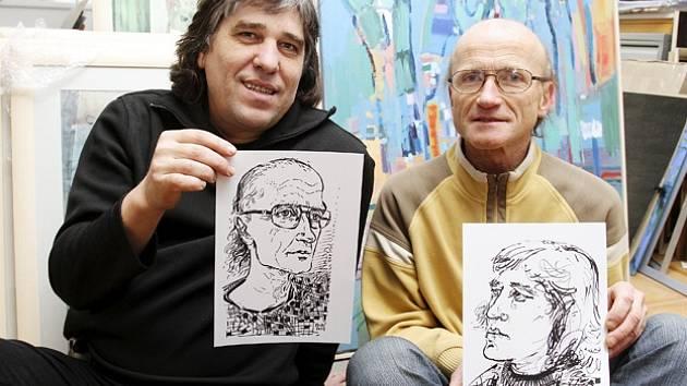 Básník Lumír Slabý a malíř Teodor Buzu vydali novou sbírku s názcem Zkouška sirén. Pohladí mozolnatou rukou, křtí ji 16. listopadu v táborském divadle.