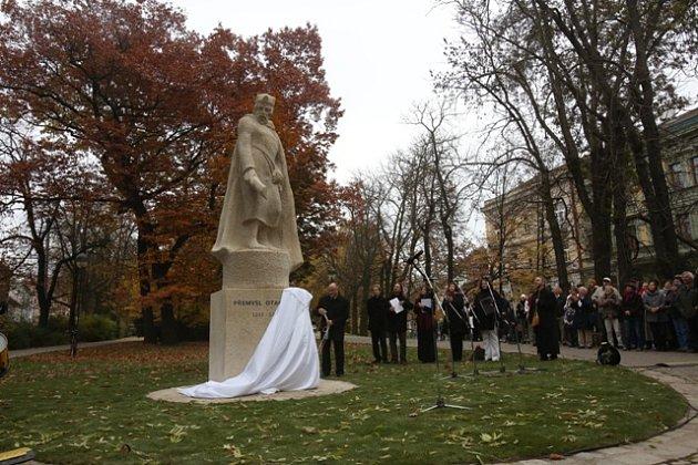 Odhalování sochy Přemysla Otakara II.
