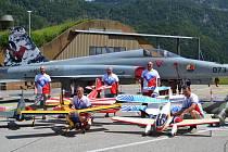 Na snímku piloti zleva: Jan Doubrava, František Frána, David Kopal, František Nodes, Jiří Brand.