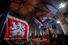 Prezident Miloš Zeman na státní svátek 28. října předával státní vyznamenání ve Vladislavském sále Pražského hradu.