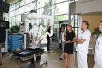 Lidé se mohli v pondělí přijít podívat do českobudějovické nemocnice na moderní robotický systém da Vinci.