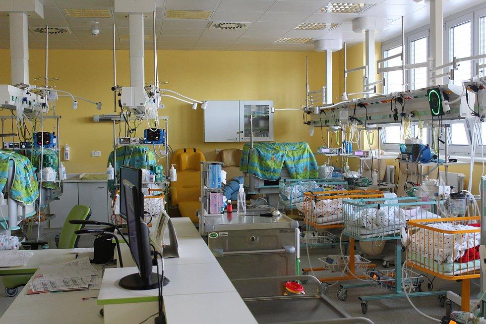 Neonatologické oddělení českobudějovické nemocnice.