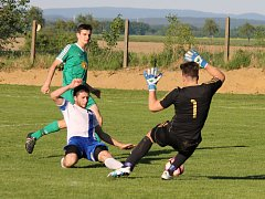 Fotbalisté Dolního Bukovska zdolali v sobotu Mladou Vožici 2:0 (2:0), skórovali Zahradník a Klika.