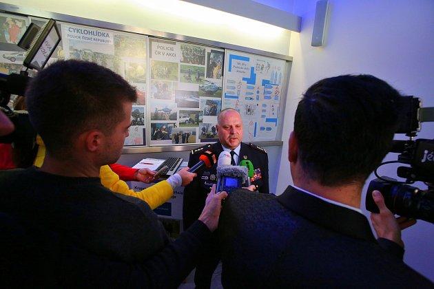 Výroční tisková konference jihočeské policie.