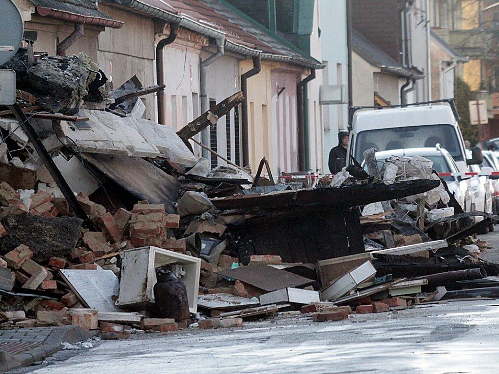 Výbuch v Lidické třídě, stržený dům.