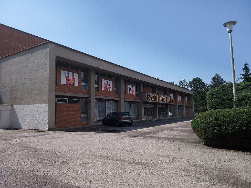 Budova sportovní haly v Českých Budějovicích.