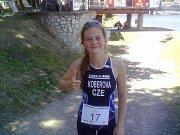KVADRIATLON. Závod v Týně nad Vltavou byl závodem Světového poháru a zároveň mistrovstvím České republiky ve sprintu. Na snímku je Magdalena Koberová.