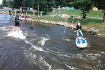 Stanislav Ježek na paddleboardu
