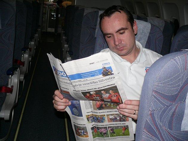 Tomáš Maruška s Deníkem.