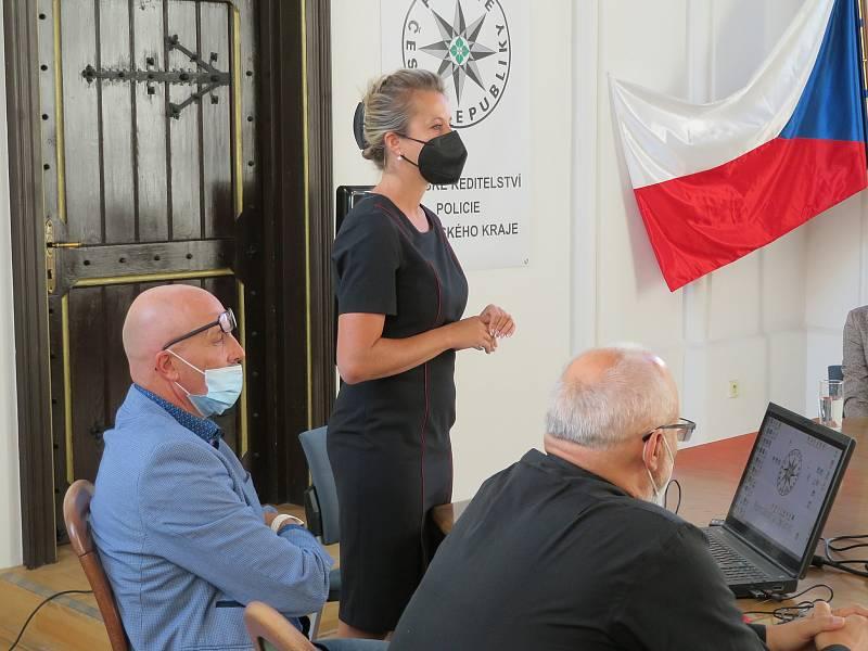 Exkurze v rámci TalentAkademie 2021 s přednáškami Krajského ředitelství Jihočeské policie se týkala konkrétně kriminalistiky a forenzních věd.