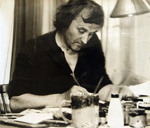 Alfred Kindler, kterého proslavily návrhy látek ikrajiny, oslavil 91.narozeniny. Na snímku jedna zjeho prací.