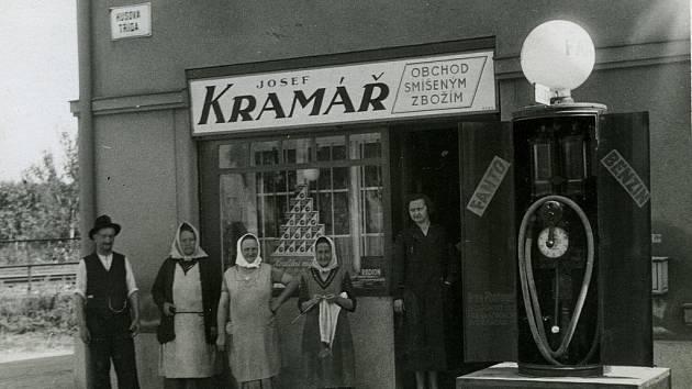 KDYSI: Obchod Josefa Kramáře.