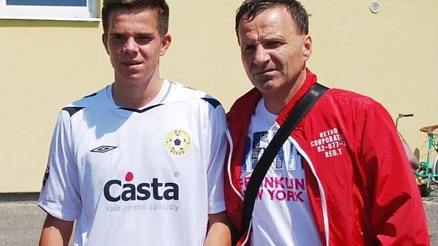 Karel Krejčí se svým otcem.