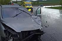 Ilustrační foto z jiné dnešní nehody: Přeštovice na Strakonicku. Tato nehoda se obešla naštěstí bez zranění, účastnice nehody mohla být po vyšetření ponechána na místě.
