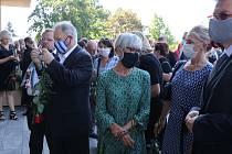 Pohřeb Jana Duška v Českých Budějovicích.