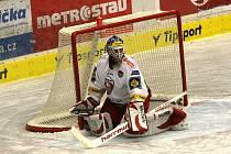 Zkušený brankář Roman Turek je tradiční oporou hokejistů HC Mountfield. Duel v Plzni vynechal kvůli poranění palce, nemělo by se však jednat o nic vážného.