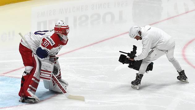 Bratislava 26.5.2019 - Mistrovství světa v Bratislavě - zápas o bronz mezi Českem a Ruskem - Šimon Hrubec