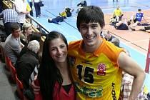David Juračka s přítelkyní Radkou