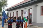 Svěcení praporu a otevření multifunkční budovy ve Strážkovicích.
