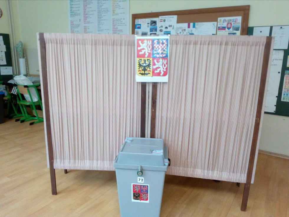 V Komunitním centru Máj v Českých Budějovicích se nachází volební okrsek číslo 54.