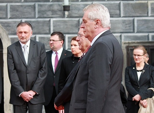 Setkání prezidentů Miloše Zemana a Heinze Fischera v Českém Krumlově.