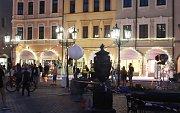 Natáčení reklamy na českobudějovickém náměstí
