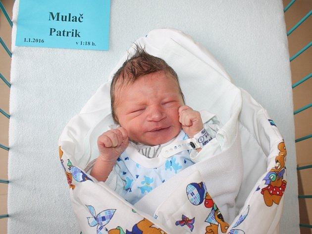 Patrik Mulač je prvním miminkem narozeným v roce 2016 na Českobudějovicku.
