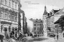 Hostinec U Hamrů na Žižkově třídě v letech 1909 – 1914.