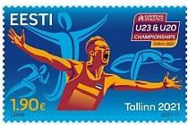 Estonská známka k šampionátům.