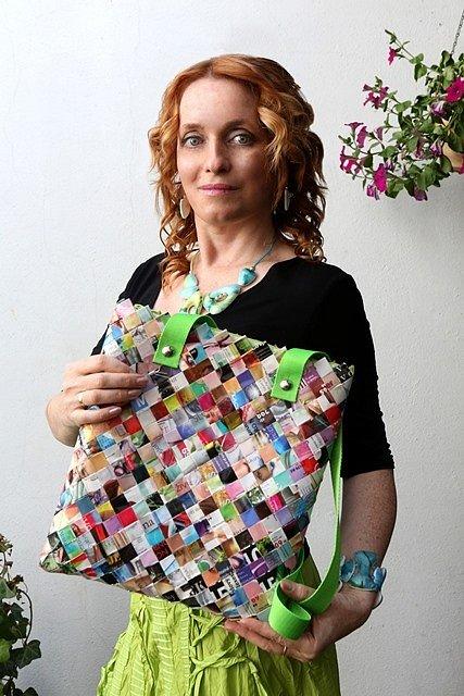 Monika Brýdová věnovala pro Kabelkový veletrh Deníku svůj originální výrobek.