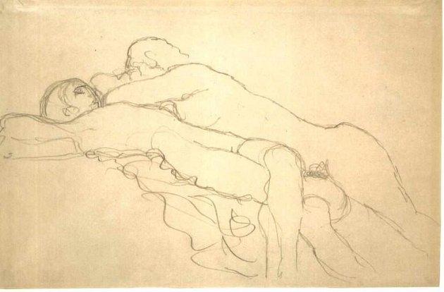 Ležící od Gustava Klimta.
