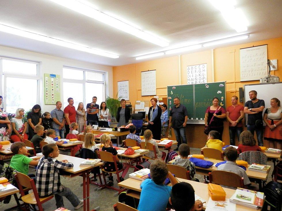 První školní den v ZŠ Hlinecká Týn nad Vltavou.