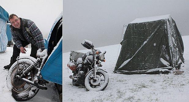 Silné motorky do Bavorského lesa.