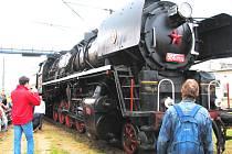 Při příležitosti Dne železnice vyjela z depa i parní lokomotiva 310.