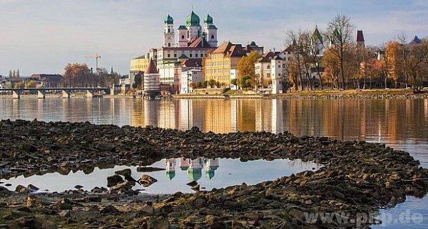Hladina Dunaje vPasově je pod minimem.