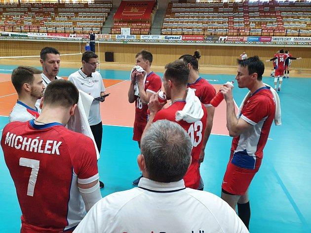 Česká volejbalová reprezentace vpřípravě na Evropskou ligu