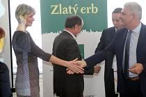 Snímek je z březnového vyhlášení Zlatého erbu na krajském úřadě v Českých Budějovicích.