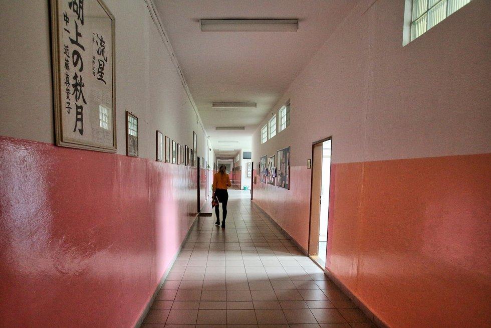 Stávka učitelů v budějovické ZŠ Nerudova.