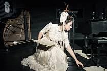 Jihočeské divadlo nabízí v české premiéře dramatizaci novely ruského klasika Tolstého s názvem Kreutzerova sonáta. Je to působivé psychologické drama. Na snímku Tereza Vítů.