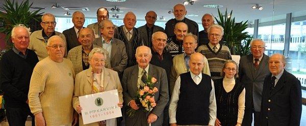 Setkání pétépáků se účastní iJiří Werner (na snímku vprvní řadě třetí zprava).