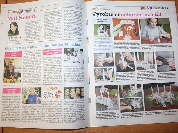 Příloha Plus Deník čtenářům nabídne zajímavé rozhovory, příběhy inávody pro šikovné ruce.